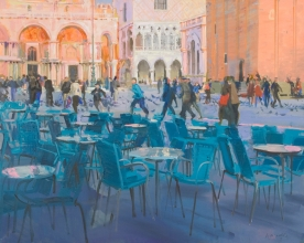 <h5>Afternoon Piazza, San Marco</h5><p>O:L 24 x 36 1996																																																																	</p>