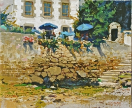 <h5>Café at St Marine</h5><p>O:L 18 x 21 2000																																																																																																																																								</p>