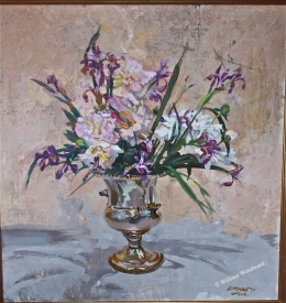 <h5>Catherine's Japanese Irises</h5><p>Oil																																																																																																																																																																																																																																																																																																</p>
