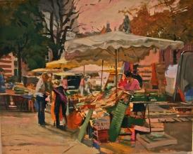 <h5>Market in Lille</h5><p>O:L 23 x 28 2000</p>