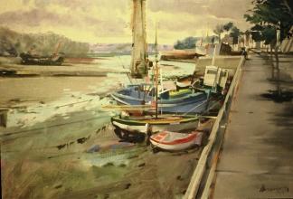 <h5>Port Rhu</h5><p>O:L 21 x 26 1982</p>