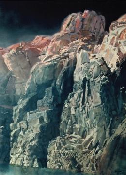 <h5>Merlin's Rock</h5><p>O:L 93 x 60 1987</p>