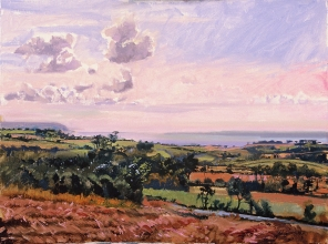 <h5>Fields at Bay of Douarnenez</h5><p>O:L 21 x 25 2008																																																																																																																																																																																																																																																																																																																																			</p>
