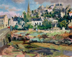 <h5>View of Pont Croix</h5><p>O:L 18 x 21 1988																																																																																																																																																																																																																																																																																																																																			</p>