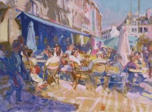 <h5>Quimper Café</h5><p>O:L 19 x 21 2000</p>