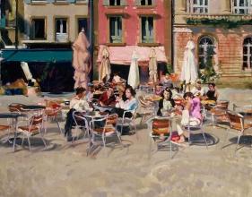 <h5>Quimper Café</h5><p>O:L 21 x 24 2000</p>