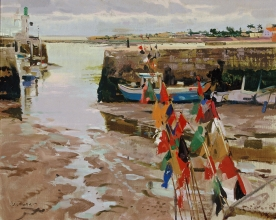<h5>Low Tide at Île de Ré</h5><p>O:L 25 x 32 1983																																																																																																																																																																																																																																																																																																																																			</p>
