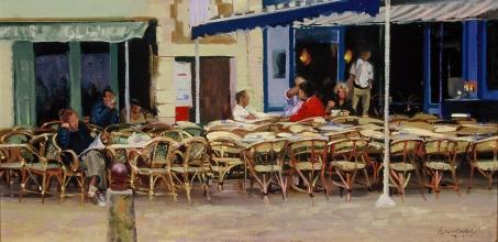 <h5>île de Ré Café</h5><p>O:L 14 x 29 1983</p>