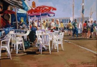 <h5>Café du Port</h5><p>O:L 12 x 14 1984</p>