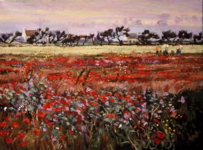 <h5>Field of Wild Poppies</h5><p>O:L 20 x 29 1971																																																																																																																																																																																																																																																																																																																																			</p>