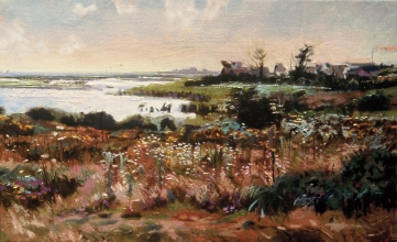 <h5>Salt Water Marsh</h5><p>O:L 21 x 32 1998																																																																																																																																																																																																																																																																																																																																			</p>