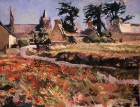 <h5>Ruin Near St Guenolé</h5><p>O:L 15 x 22 1979</p>