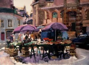 <h5>Market at Douarnenez</h5><p>O:L 21 x 25 1985</p>