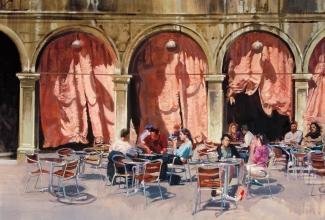 <h5>Arcade Café Venice</h5><p>O:L 34 x 36 1995</p>